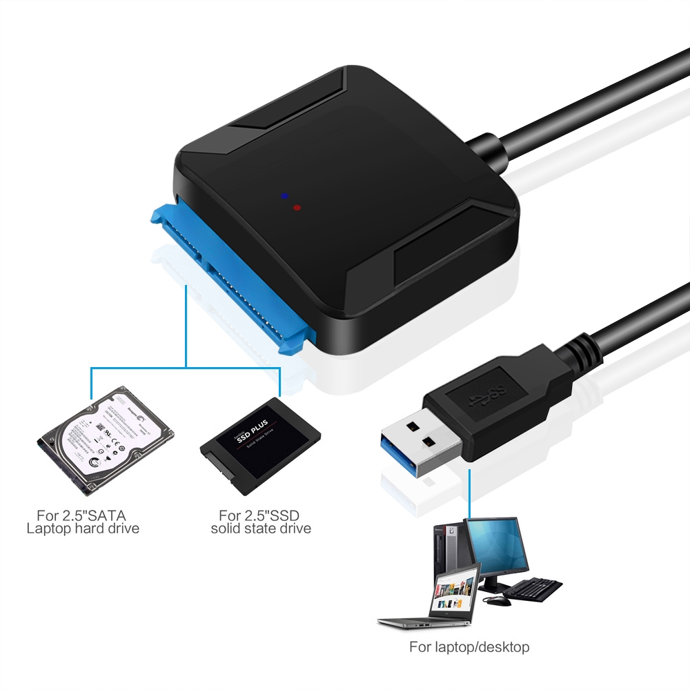 USB 3.1 USB C to SSD 2.5-Inch/&3.5inch SATA Hard Drive Adapter for Laptop