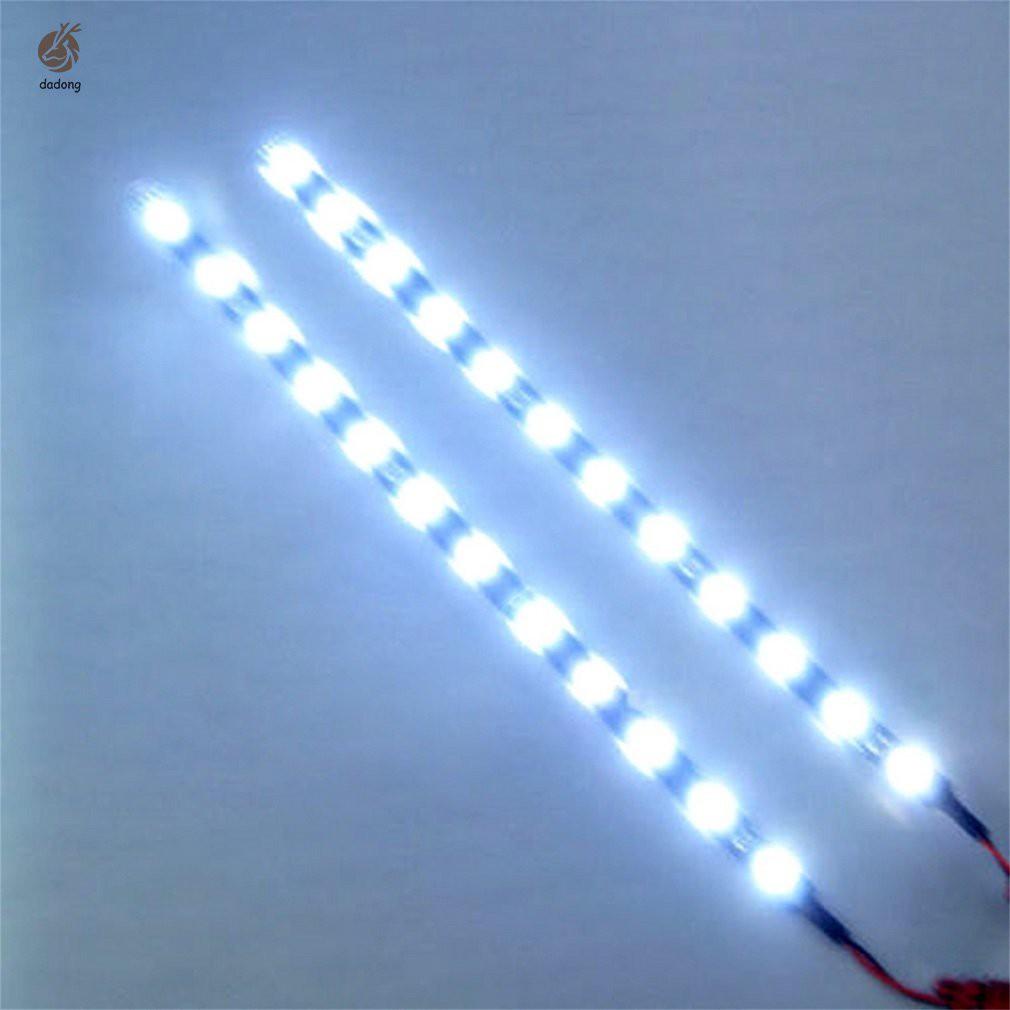 LED Strip 30cm ; 12V Waterproof IP65 15LEDs ; Pure-White 6000K