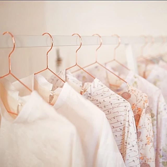 Luxe Rose Gold Clothes Hanger Sho