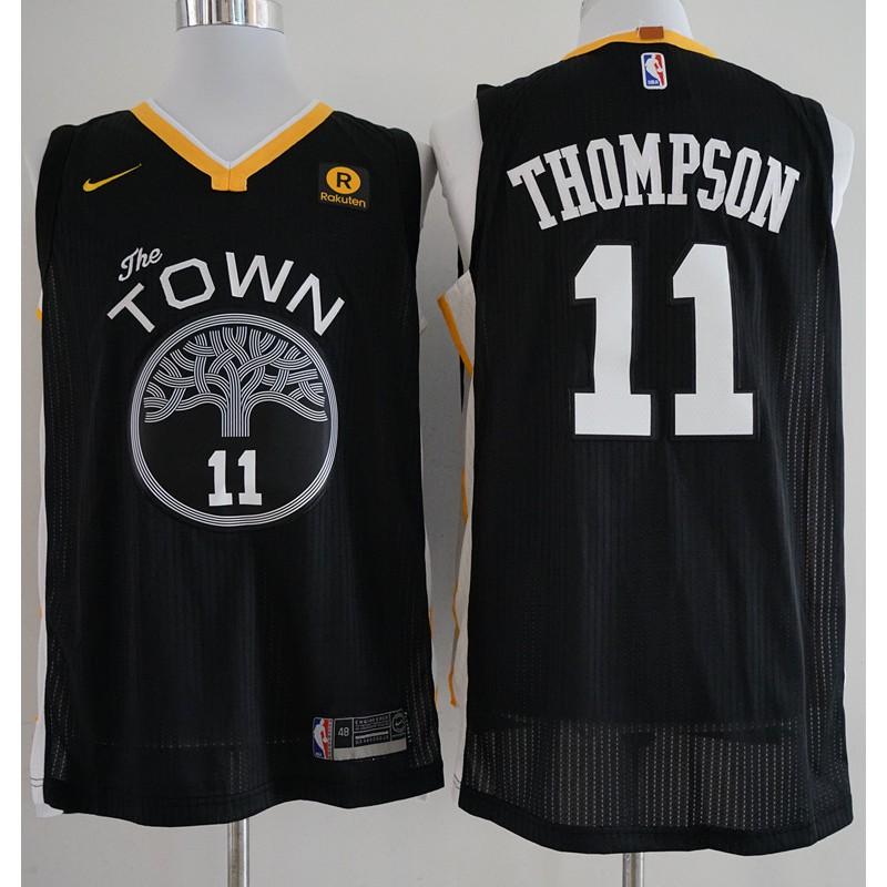 finest selection 0d66d e2f78 2018 Original Nike NBA Golden State Warriors Klay Thompson #11 black  basketball jersey S-XXL