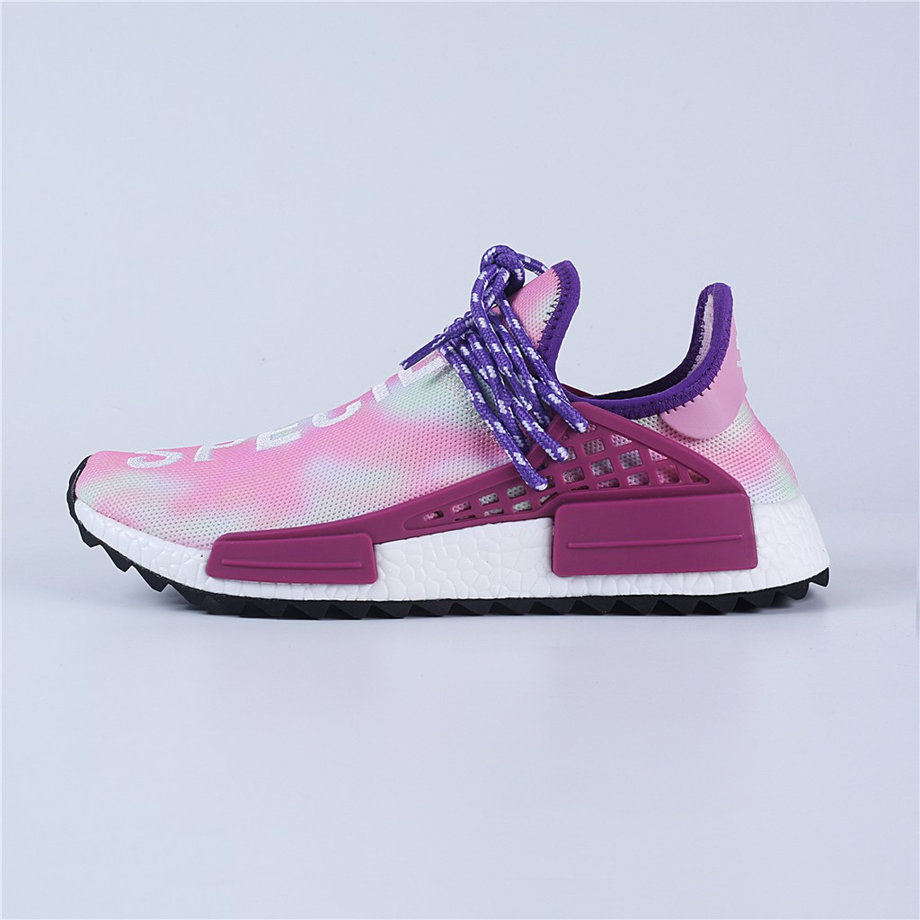 9680bad539a88 Adidas new Human Race fitong co-branded men s shoes NMD popcorn pink and  white