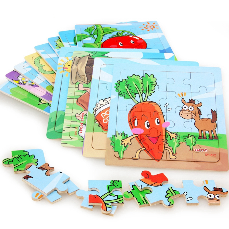 Puzzles Set for Kids Age 3-5 Year Old 16 Piece Animals ...