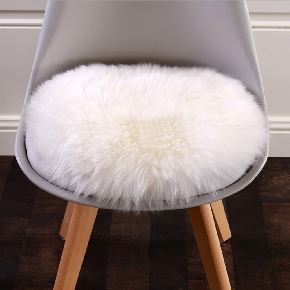 Incredible Soft Faux Fur Rug Household Bedroom Warm Mat Sofa Chair Desk Pad Round Carpet Creativecarmelina Interior Chair Design Creativecarmelinacom