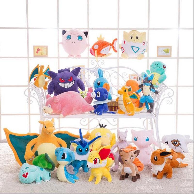 TV & Movie Character Toys 14 Mewtwo Pokemon Center Anime Plush Toy Soft Stuffed Doll Kids Xmas Gift