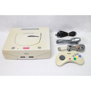USED] Sega Saturn Console White system set Japan NTSC-J work
