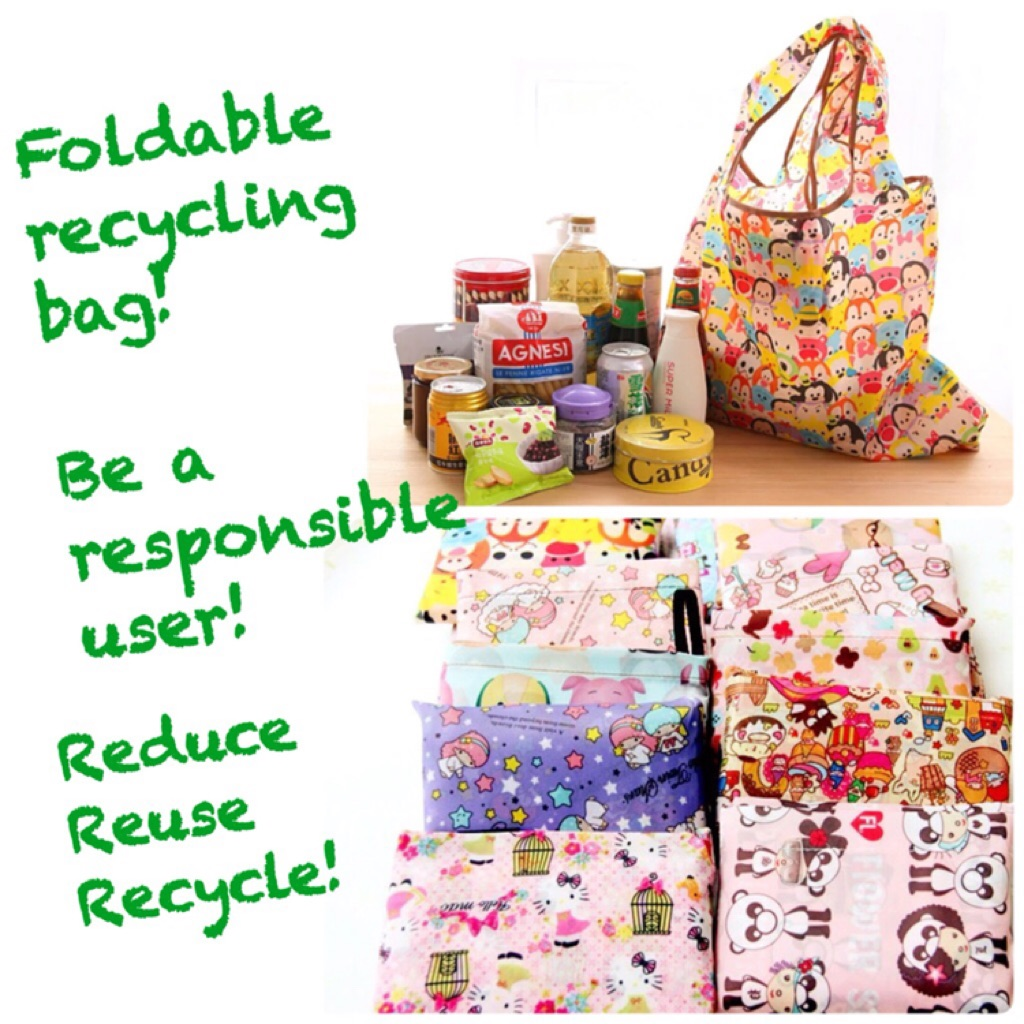 1ab606cdcd10 ♻Cute Foldable Recycle Bag♻ 9 Designs to choose from!