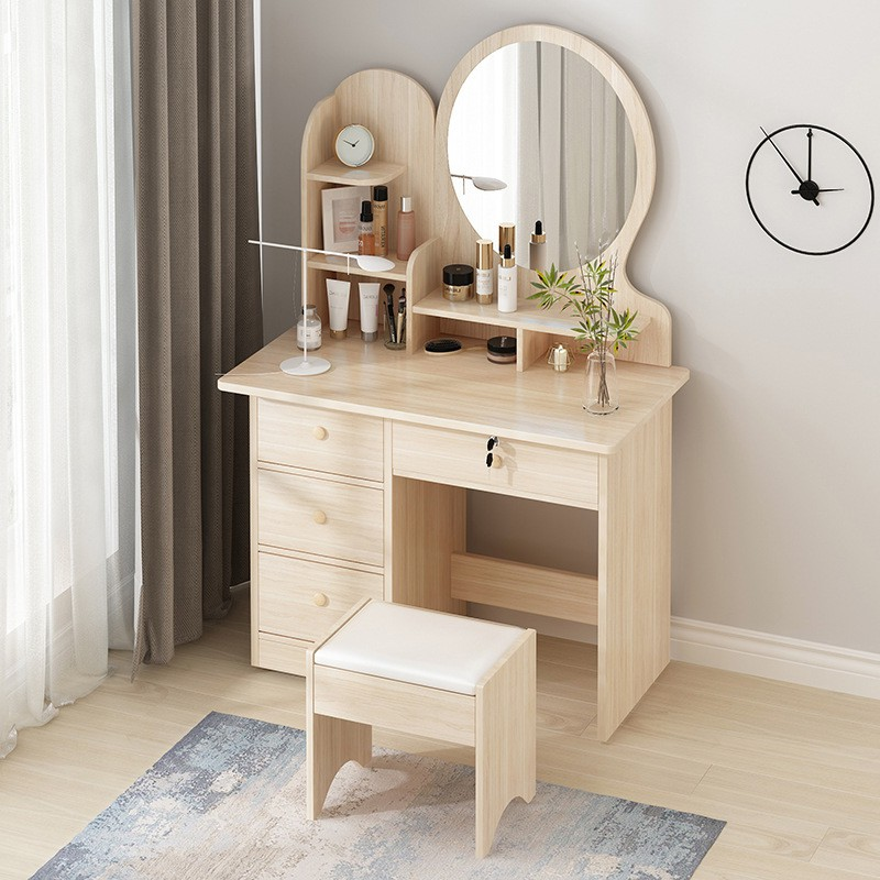 Simple Dressing Table Small Sized Bedroom Storage Cabinet Economy Assemblable Net Red Mini Dressing Table Shopee Singapore