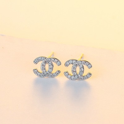 Women's Mini S925 Silver Plated Chanel Design Earrings