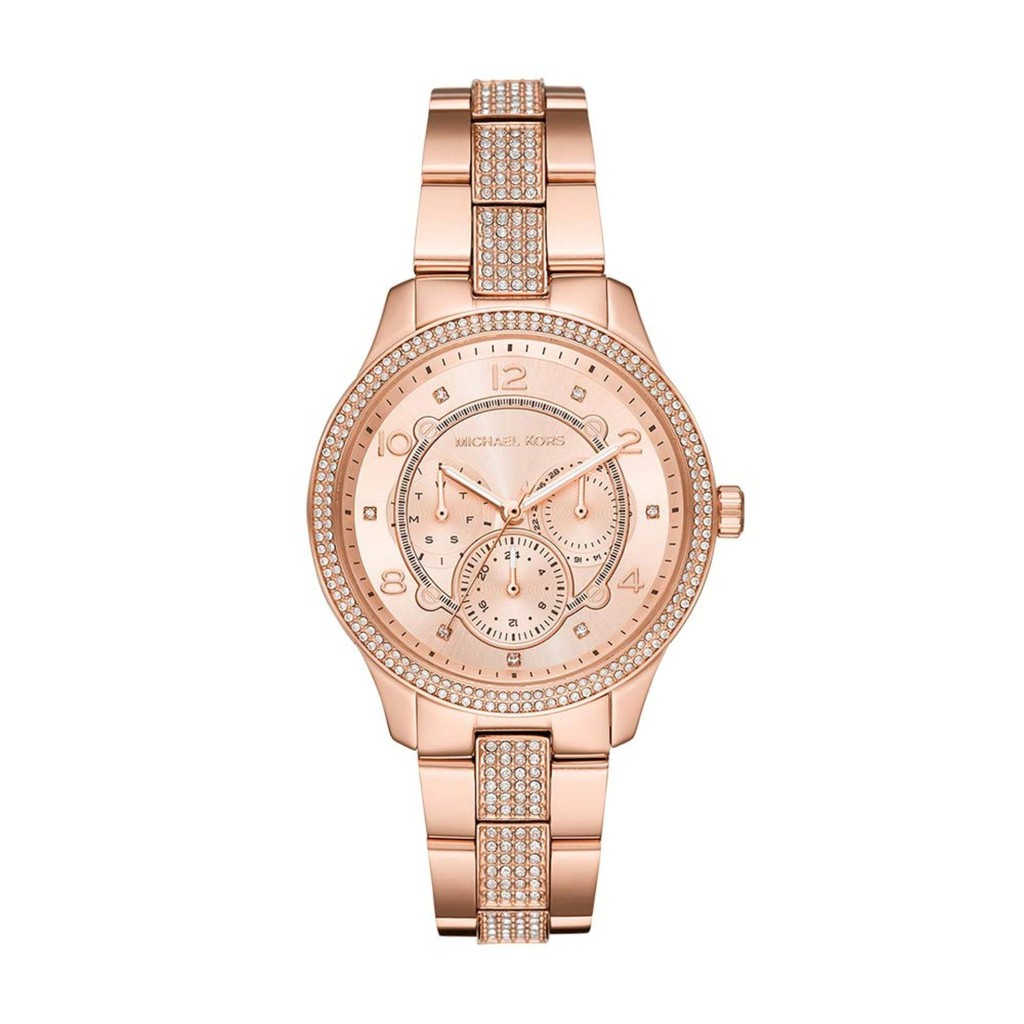 76c141f99474 Michael Kors MK6492 Parker Rose Gold-Tone and Champagne Acetate Watch
