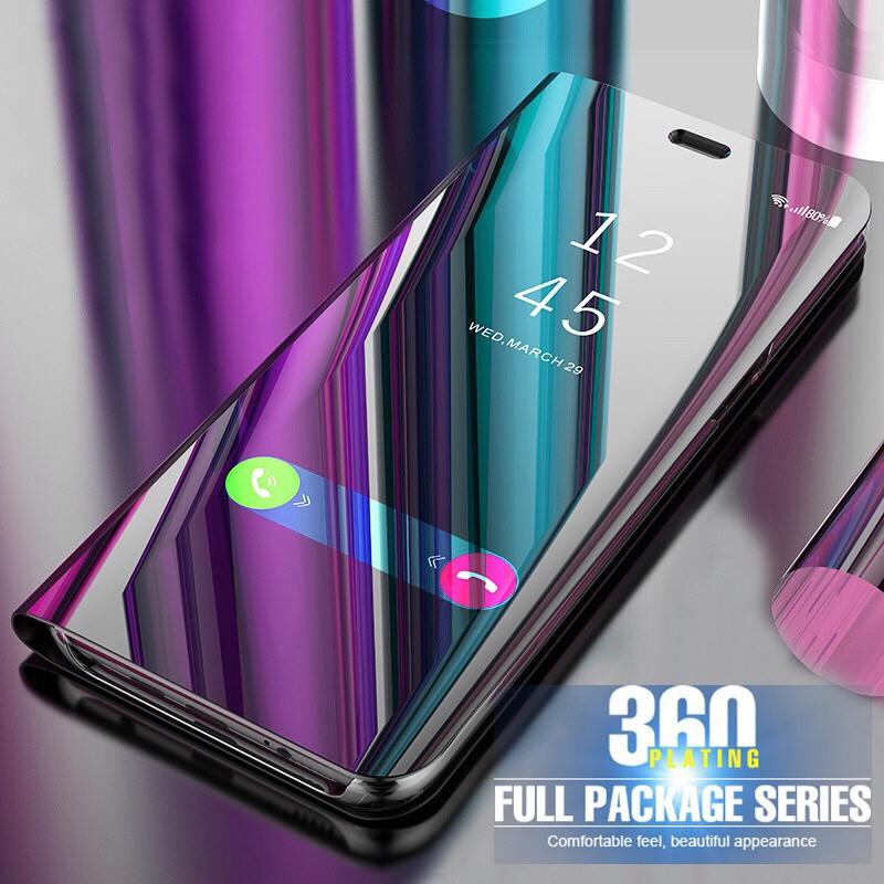 Huawei Nova3E Nova2i Novalite Nova4lite Smart Flip Mirror Mount Phone Case