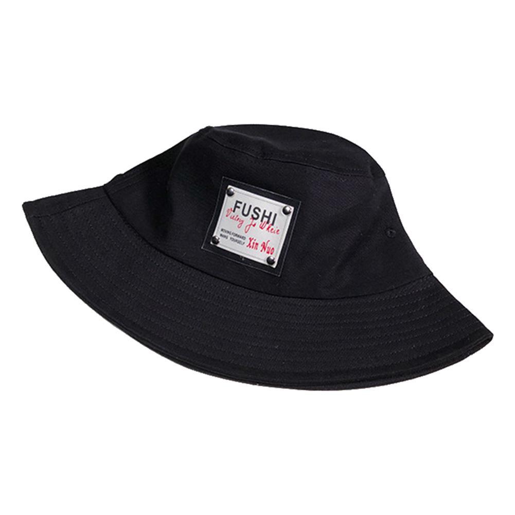 Summer Spring Plain 100/% Cotton Bucket Hats Letter Sunscreen Fisherman Hats Flat Top Beach Fishing Hat Outdoor