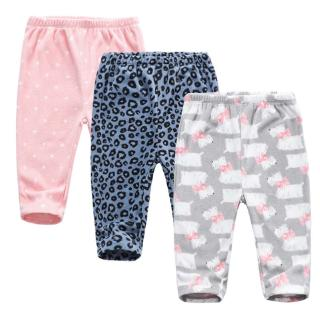 0-24 Months Baby Girls PP Pants Knotted Infant Leggings Trousers 3 Packs