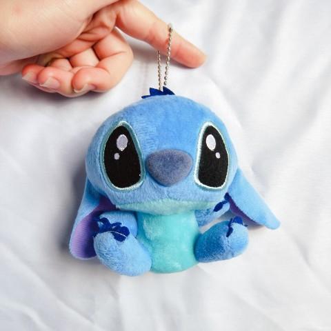 """4/"""" 10cm Lilo Stitch Plush Toys Dolls with sucker keychain Soft Stuffed For Kids"""