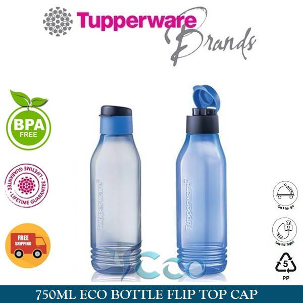 Tupperware Mini Eco Water Bottle W Flip Cap 10oz Cherry New