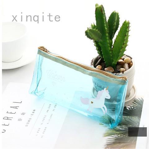 7c2d65610f2b Unicorn Transparent PVC Reverse Trapezoid Pencil Case | Shopee Singapore