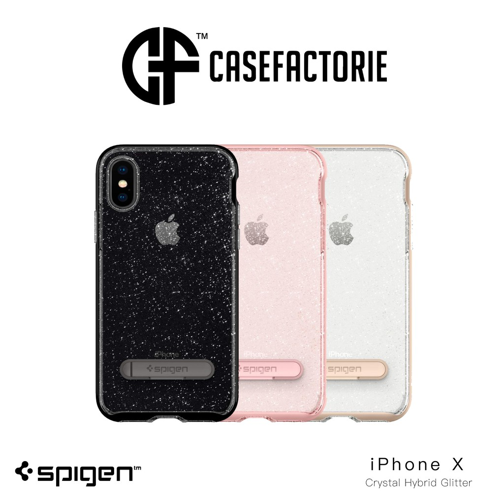 Spigen Crystal Hybrid Glitter Case For Iphone X Shopee Singapore Galaxy Note 8