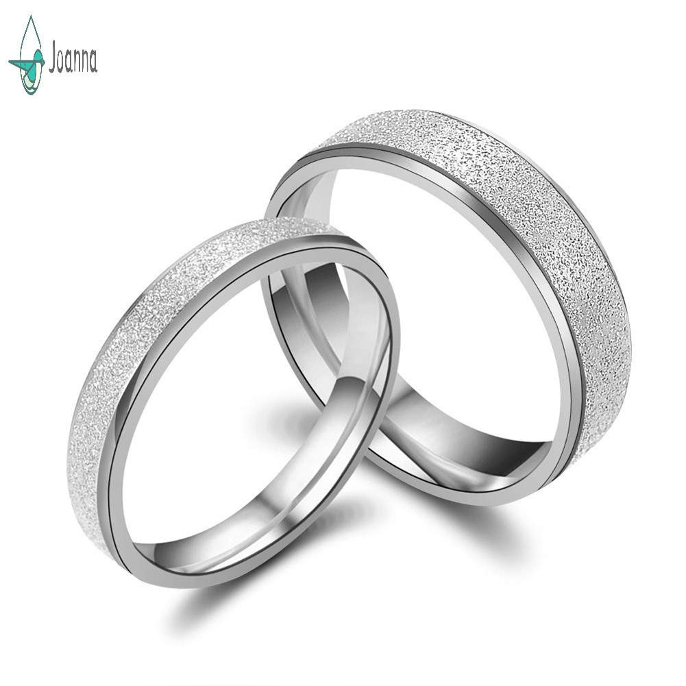 Smart.A Valentines Day Couple Diamond Ring Titanium Steel Diamond Ring 7.5