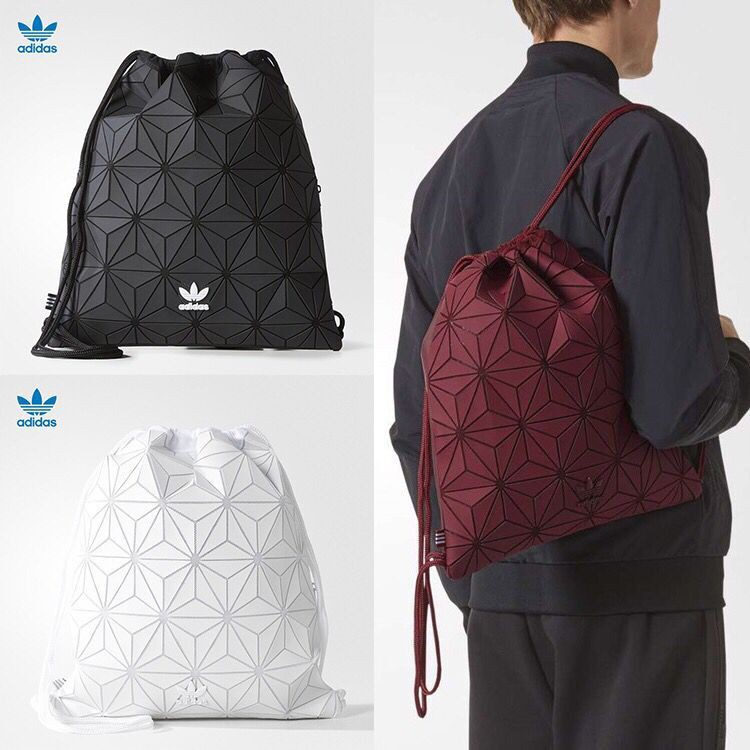 e17f414cd6fc 🔥In Stock🔥 3 Colours Adidas Bag 3D Gym Sack In White and Black ...