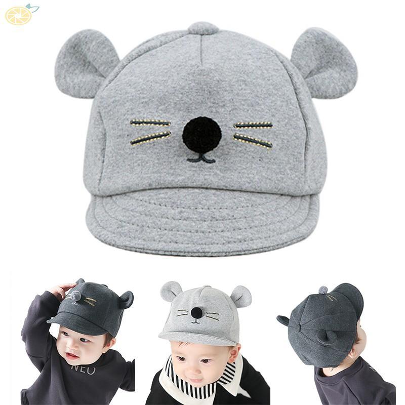 Newborn Hat Toddler Kids Baby Girl Boy Visor Baseball Cat Little Ear Cap Warm