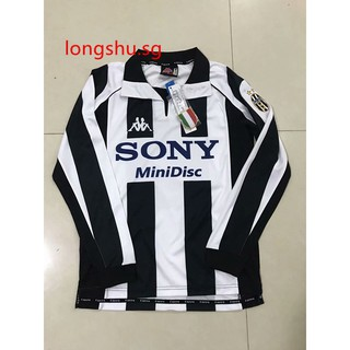 newest 2432e 4bc89 1997-1998 Juventus Home Long Sleeve Retro Soccer Jersey ...