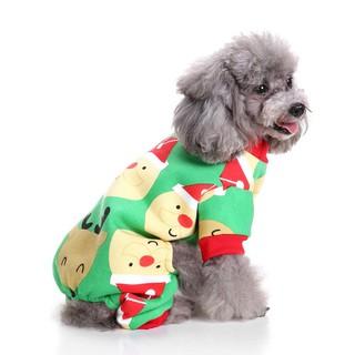 Christmas Pajamas For Dogs.Small Dog Puppy Christmas Fleece Pajamas Pet Winter Jumpsuit