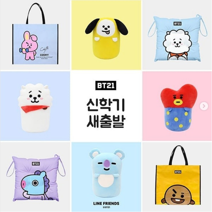 Bag Parts & Accessories Precise Kawaii Cartoon Bt21 Suga V J-hope Tata Chimmy Cooky Fan Handbag Decoration Bts Bangtan Boys Love Yourself Women Girl Bag Charm Attractive Appearance