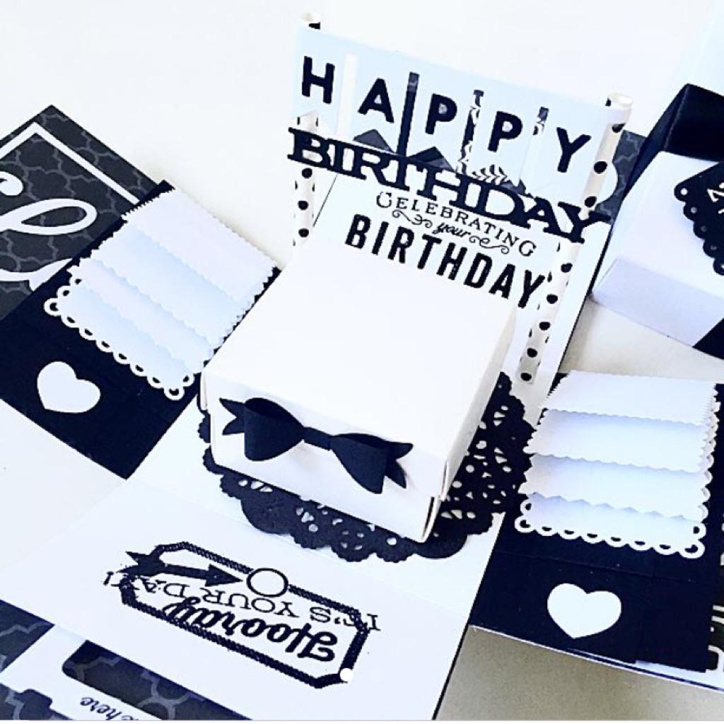 Happy Birthday Explosion Box Card