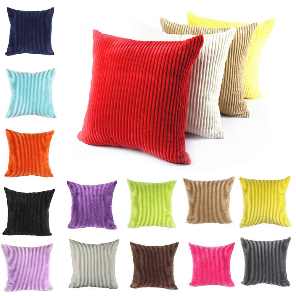 Large Soft Velvet Striped Couch Cushion Covers Pillow Shopee