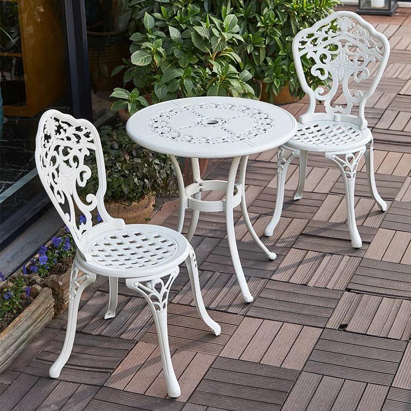 Outdoor Furniture Cast Aluminum Patio, White Rod Iron Patio Furniture