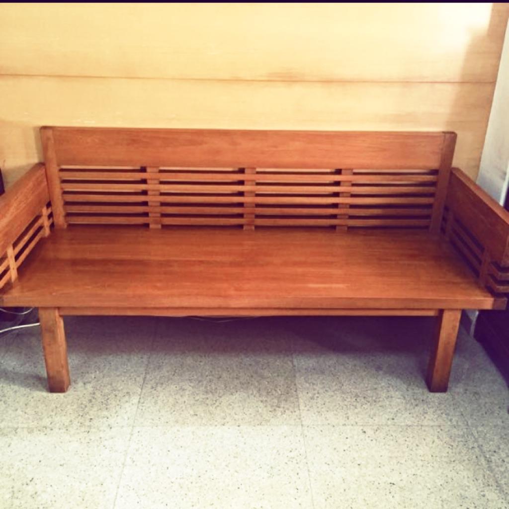 Solid Teak Wood Bench