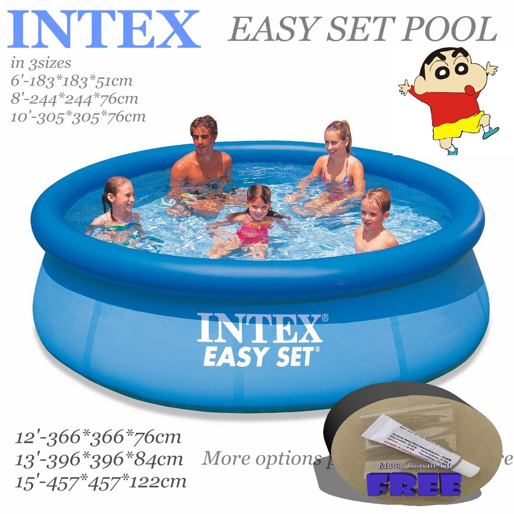 INTEX Easy Set Pool in 6sizes*Inflatable Swimming pool*Pump to choose