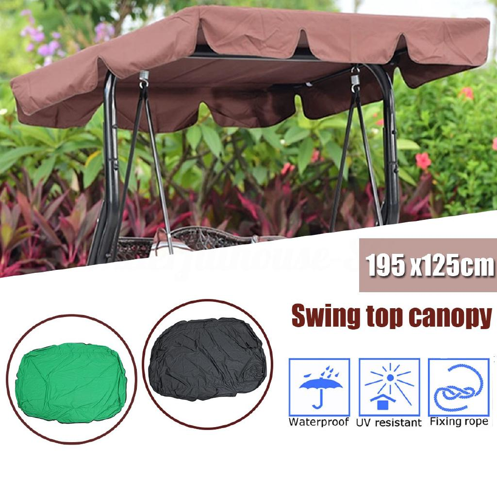 Blue Patio Swing Canopy Cover Set