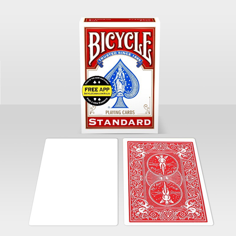 BLANK FACE BICYCLE RED BACK DECK GAFF PLAYING CARDS POKER SIZE MAGIC CARD TRICKS