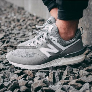 5908c135948 SHIPPING  Original New Balance 574 Sport Suede Pack  Grey with White ...