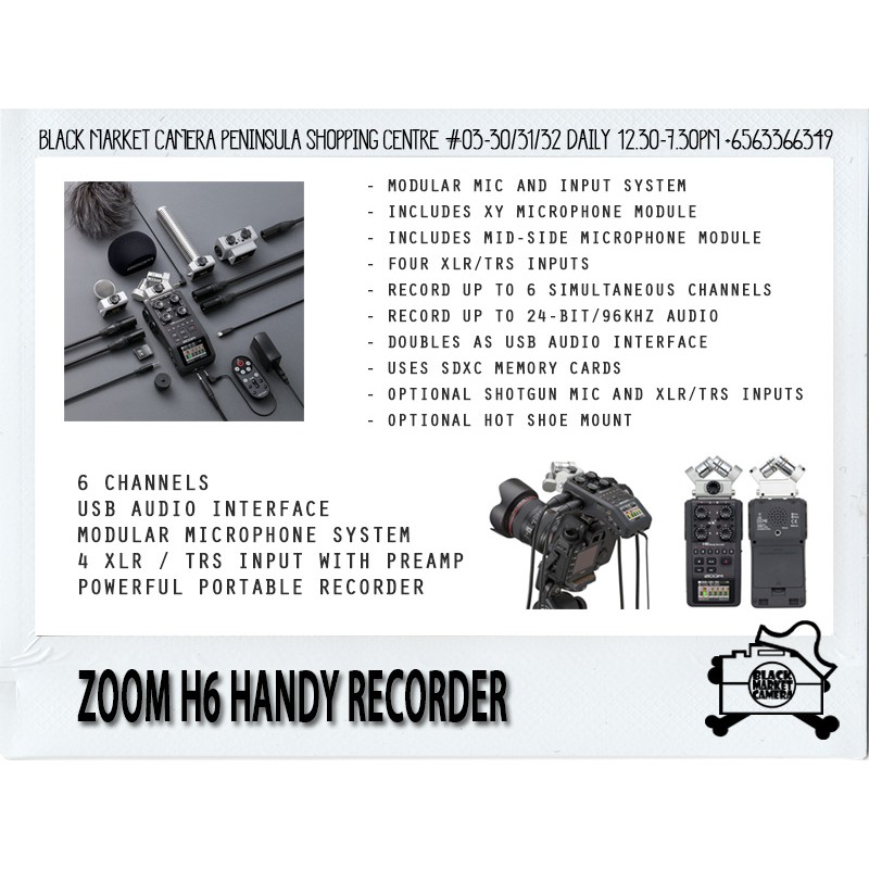 [BMC] AUTHENTIC ZOOM H5 / H6 Handy Recorder | High Quality