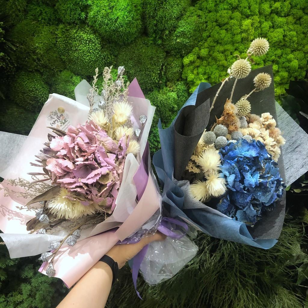 Dried Flowers Bouquet Hydrangea Shopee Singapore