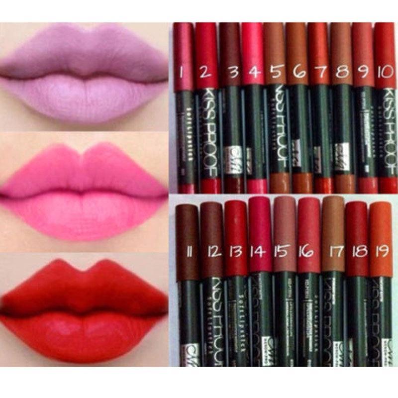 LGI-Waterproof Liquid Makeup Soft Lip Pencil Matte Long Lasting Lipstick Lip