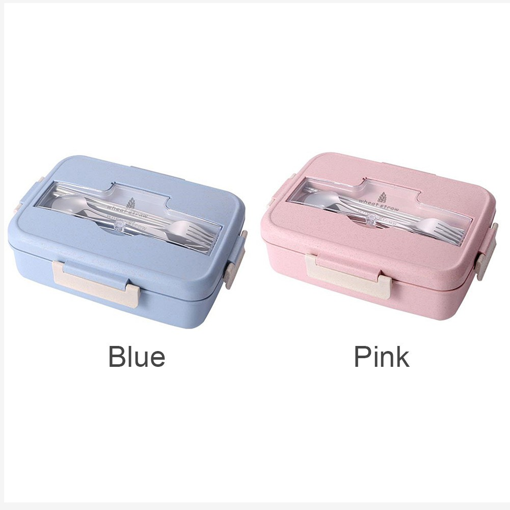 e04099a902f4 ♥cinglen♥ Wheat straw lunch box Wheat Straw Bento Microwave Bento Lunch Box
