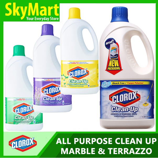Clorox Clean Up With Bleach Marble Terrazzo Floor Cleaner