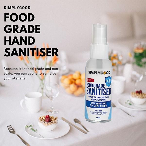 SimplyGood Food Grade Hand Sanitiser 50ml | Shopee Singapore