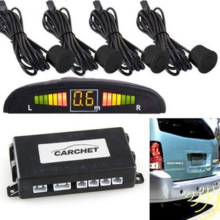 Car LED + 4pcs Sensor Parking Backup Reversing Reverse Radar