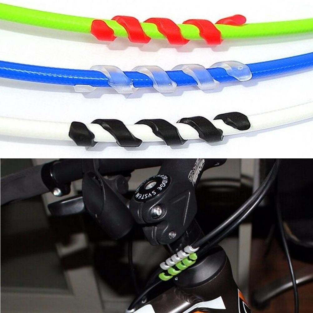 10x Spiral Soft Rubber Bike Frame Protector for Shift Cable Outer Brake Gear