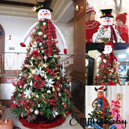 Snowman Santa Claus Christmas Tree Topper Decoration Ornament Cute Shopee Singapore