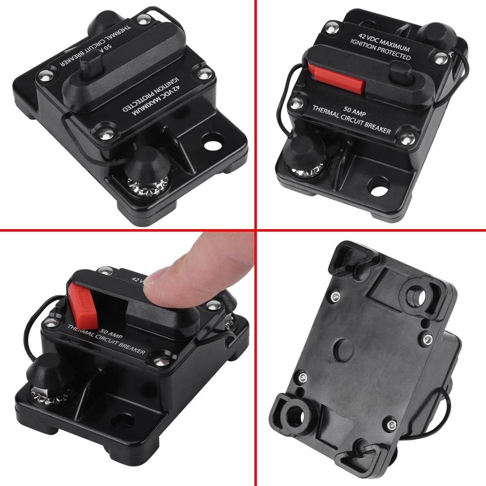 30AMP Manual Reset Circuit Breaker 12V//24V Car Auto Boat Audio Stereo Fuse