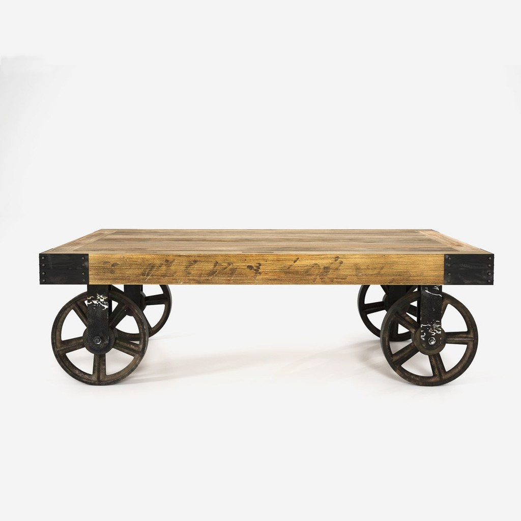 Picture of: Coffee Table Rustic Customized Solid Pine Wood With Anti Rust Steel Legs Loft Home Furniture 5 Year Warranty Shopee Singapore
