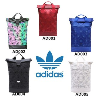 YM* Adidas 3D Mesh Roll Top Backpack Issey Miyake Style Bag Fashion