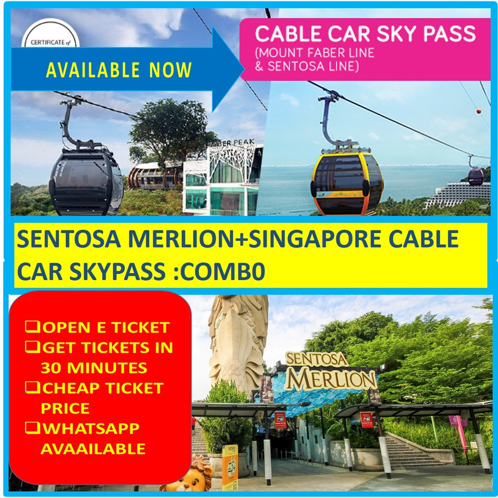 COMBO: Sentosa Merlion + Singapore Cable Car Sky Pass