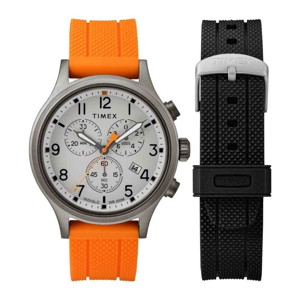 baae622cdf7b Timex Allied 40 TW2R67500 Quartz Stainless Steel Silicone Unisex Watch