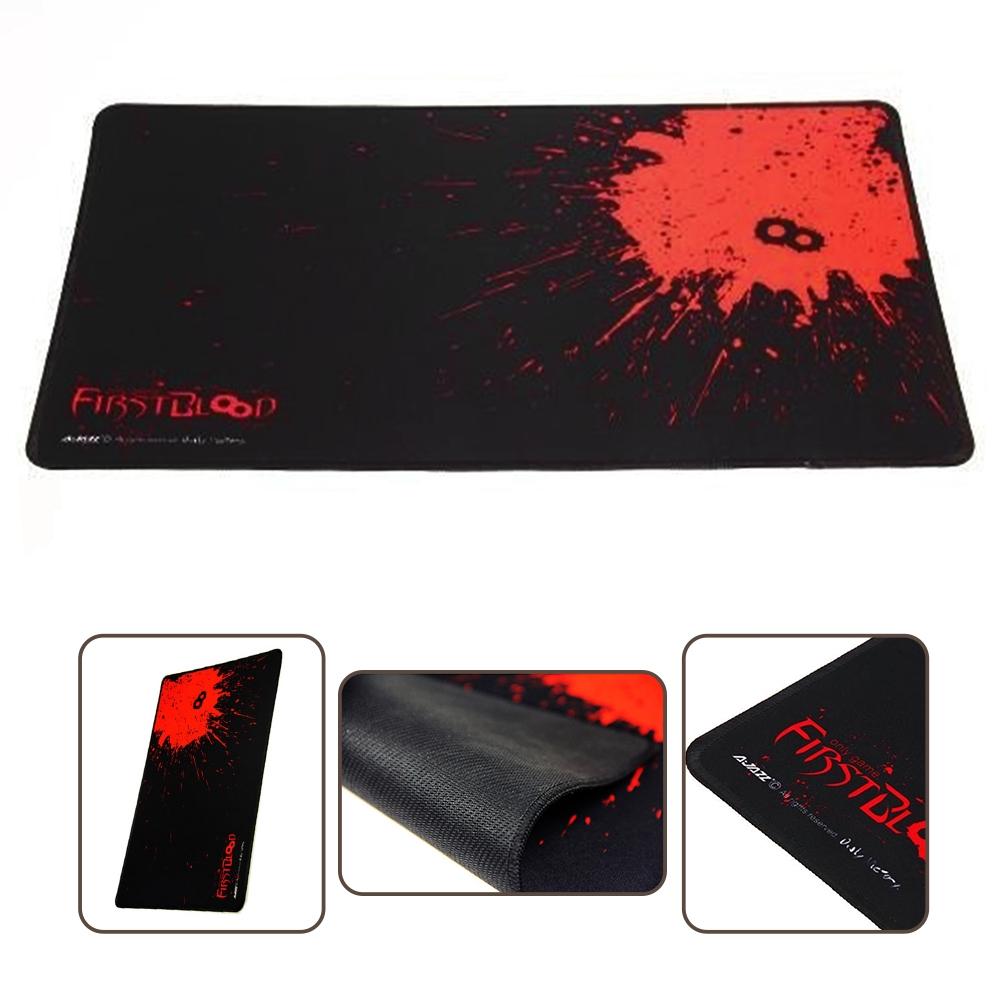 BLACK+RED ANTI-SLIP MOUSE MAT PAD WITH GAMING LARGE & LAPTOP