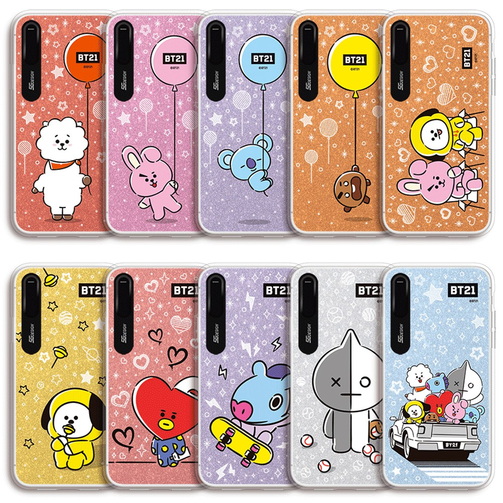 outlet store 379f3 d7ad8 BTS BT21 Official Merchandise - Hang Out Light Up Phone Case for Apple  iPhone